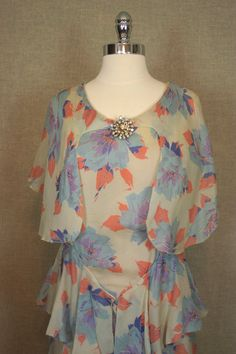 1930s Dress / Vintage Art Deco Floral Dress w/ by AmouretteVintage, $88.00
