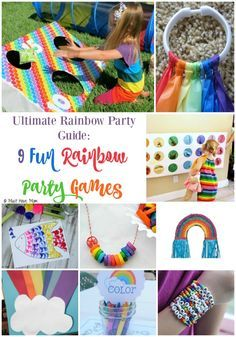 Ultimate Rainbow Party Theme Guide: 9 Fun Rainbow Party Game Ideas & Activities. These rainbow games are perfect for a rainbow party! DIY or buy depending on what you have time for!