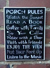 Porch Rules  Wall Art   FREE SHIPPING by scontrino1970 on Etsy, $16.00