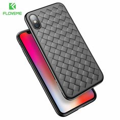 Super Soft Phone Case For iPhone 8 Luxury Grid Weaving Cases For iPhone 6, 6s, 7, 8+, X