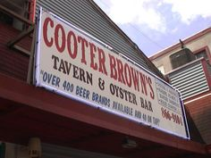 Cooter Brown's - New Orleans horrible rude service and cold beer- oysters
