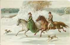 Victorian Reward of Merit Cards Old Postcards, Christmas Cards, Winter, Victorian, Scrapbook, Side Saddle, Painting, Art, Museums