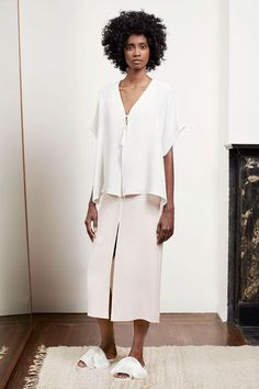 30 Times Going Bigger Meant Looking Better #refinery29  http://www.refinery29.com/comfortable-holiday-outfits#slide-15  Oversized separates in similar hues and widths form the cleanest of lines.