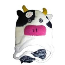 $14.99 Knitted Hat Cow Knitted Hats, Cow, Winter, Knit Caps, Knitted Beanies