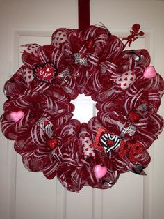 Image result for deco mesh wreaths valentines