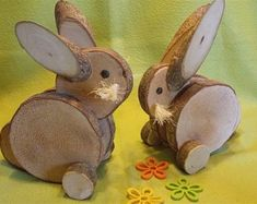 – Osterdeko – Ostern – Mit Liebe h …. – Easter decoration – Easter – With love h … – Future projects – Wood Log Crafts, Wood Slice Crafts, Crafts To Make, Kids Crafts, Craft Projects, Spring Crafts, Holiday Crafts, Diy Ostern, Wooden Animals
