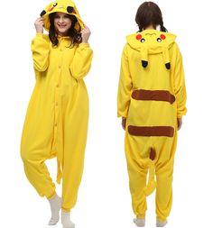 Anime Pikachu Pokemon Onesie Jumpsuit Costume Unisex Pajamas Animal Sleepwear