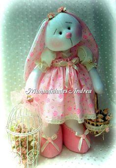 Patterns to buy! Sewing Stuffed Animals, Stuffed Animal Patterns, Sock Dolls, Doll Toys, Doll Patterns, Sewing Patterns, Sewing Dolls, Cute Bunny, Fabric Dolls