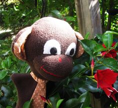 Monkey Hand Puppet  Curious George  Monkeys Jumping on by Meoneil, $24.00