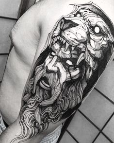 Amazing Shoulder Tattoo Ideas - My list of the most creative tattoo models Cool Shoulder Tattoos, Mens Shoulder Tattoo, Shoulder Tattoos For Women, Hercules Tattoo, Faith Tattoos, Body Art Tattoos, Sleeve Tattoos, Sleeve Tattoo For Guys, Tatoo