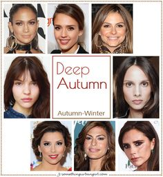 Deep Autumn, Autumn-Winter seasonal color celebrities by 30somethingurbangirl.com