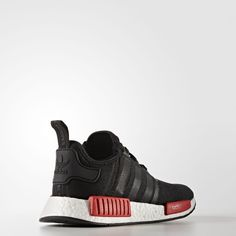 Adidas NMD R1 Runner Black Red BB1969  Black #adidas #AthleticShoes