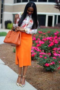 FASHION AND STYLE: ORANGE FLOWERS