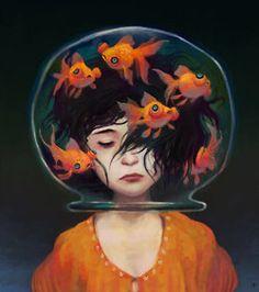 goldfish bowl on head