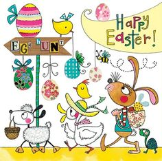 Easter card in Egg Hunt design by Rachel Ellen Designs. Available in our store.