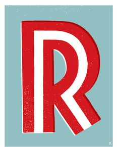 Letter R by methanestudios on Etsy, $10.00