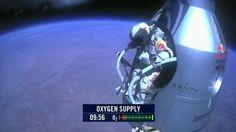 Baumgartner. Logró romper la barrera del sonido (Captura de video).