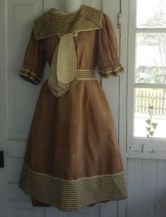 The great bulk of my collection dates after 1915, but I'm slowly educating myself about earlier sportswear, and I've begun to acquire a few pieces. This late nineteenth century bathing…