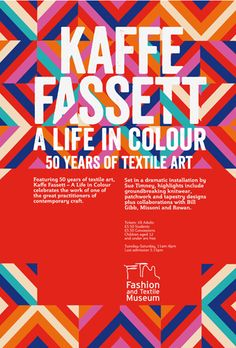Fashion and Textile Museum. Exhibition Poster.
