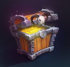 chest by Ana Roma on ArtStation.