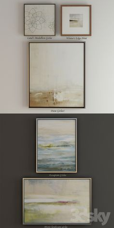 3d models: Frame - The collection of contemporary paintings (set-3)