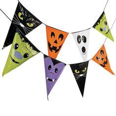 halloween character plastic pennant banner