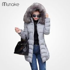 Women's winter jacket Coat fashion down parka plus size faux fur hooded parkas for women winter coat thick black jacket zipper♦️ SMS - F A S H I O N 💢👉🏿 http://www.sms.hr/products/womens-winter-jacket-coat-fashion-down-parka-plus-size-faux-fur-hooded-parkas-for-women-winter-coat-thick-black-jacket-zipper/ US $26.97