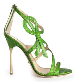 Jerome C Rousseau Green Sandal Spring 2014 #Shoes #Heels