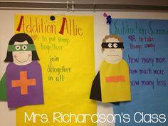 Mrs. Richardson's Class: Addition Allie and Subtraction Sammie.