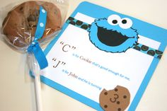 Invites from a Cookie Monster Party #cookiemonster #partyinvites