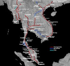 Train route map for Singapore, Malaysia & S E Asia-Will use to go to Thailand and Singapore frequently