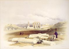 David Roberts - Ruins Of Erment, Ancient Hermontis, Upper Egypt