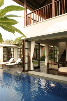 Bali Villa - and when you're tired of sitting in the living room like a civilized person, two steps and fall in the water...