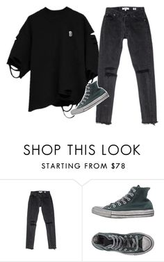 """""""trouble"""" by chanelandcoke ❤ liked on Polyvore featuring Converse"""