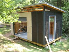 This specific photograph (diy modern shed project garden yard design modern shed Simple Shed Design) previously mentioned is 10x12 Shed Plans, Lean To Shed Plans, Wood Shed Plans, Storage Shed Plans, Backyard Sheds, Outdoor Sheds, Backyard Office, Backyard Cottage, Tiny House