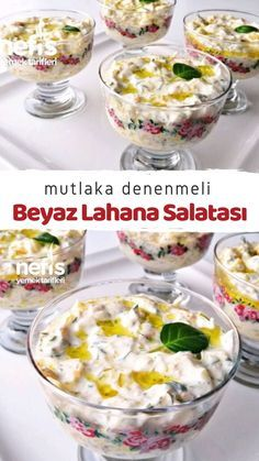 Beyaz Lahana Salatası Mutlaka Deneyin (Videolu) – Nefis Yemek Tarifleri Must Try White Cabbage Salad (Video) How to make a recipe? Illustrated explanation of this recipe in the book of people and photos of those who try it are here. Pasta Recipes, Salad Recipes, Vegan Recipes, Cooking Recipes, Delicious Recipes, Good Food, Yummy Food, Fiber Diet, Cabbage Salad