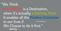 We Think Happiness is a Destination