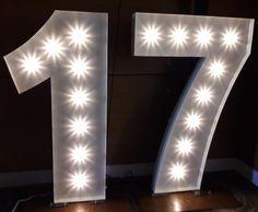 17 Giant Illuminated Number Lights