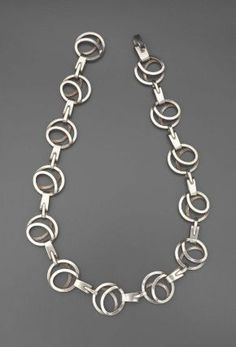 Love this! Necklace |  Paul Lobel, c. early 1950s.  Silver