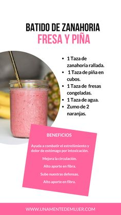 Healthy Menu, Healthy Juices, Healthy Breakfast Recipes, Healthy Drinks, Healthy Recipes, Easy Smoothies, Weight Loss Smoothies, Detox Juice Recipes, Smoothie Recipes