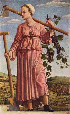 Francesco del Cossa Der Herbst (Die Muse Polyhymnia) 1455-1460