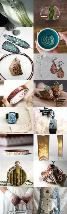 Simply beautiful by Katie Mason on Etsy #handmade #etsy #etsyshop #fall #autumn #teal #brown #green #jewelry