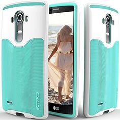 LG G4 case, Caseology® [Wavelength Series] [Turquoise Mint] Textured Pattern Grip Cover [Shock Proof] LG G4 case