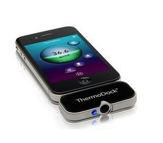 doctors can take temperatures from a distance using infrared technology that plugs into their iPhones.  #NEWT4Business