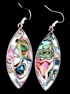 Abalone Shell Earrings Handcrafted Mexican Abalone Jewelry is a world-famous fashion jewelry product created by our parents and grandparents in the villages of Tecalpulco and Taxco El Viejo, Municipio de Taxco de Alarcón, Guerrero, México. This is the classic popular jewelry of the nineteen seventies and nineteen-eighties. Expert shell mosaic craftsmanship using beautiful natural materials (NOT an endangered species)