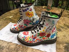 Custom Painted Dr Martens Boots, Adidas Superstar & Converse