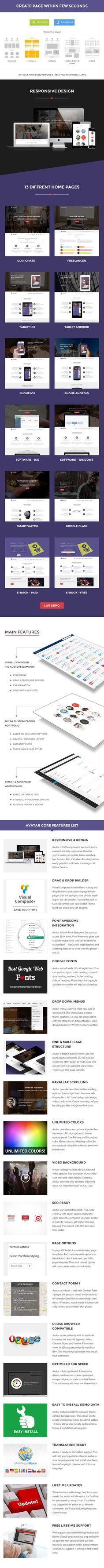 Avatar – One Page Parallax Theme