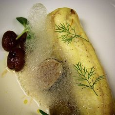 Dover sole poached in saffron fumet with ajo blanco malagueño roasted grapes brûlée figs.  @saks #sakscraves #theartofplating #gastroart #truecooks #foodporn #foodpornworld #instagood #yum #chefsclubny #bestfoodny #summer #chefstable #chefstalk #chefstagram #foodartz #wildchefs #eatgood #eatgoodny by chefalex_atsaks