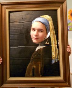 """Kristina Wentzell Fine Art: Halloween costume- how to make """"A Girl with a Pearl Earring"""" World Book Day Costumes, Creative Costumes, Art Party, Character Costumes, Art Club, Teaching Art, Community Art, Art Lessons, Art History"""