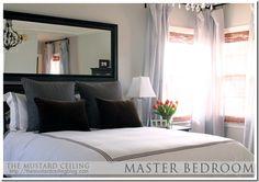 Bedroom Inspiration Above Bed Mirror Headboard Decor
